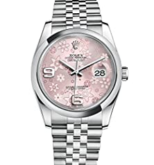 buy Rolex Datejust 36 Stainless Steel Pink Floral Dial Jubilee 116200