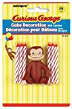 Curious George Cake Decoration with 6 Candles 6キャンドルとおさるのジョージケーキデコレーション♪ハロウィン♪クリスマス♪