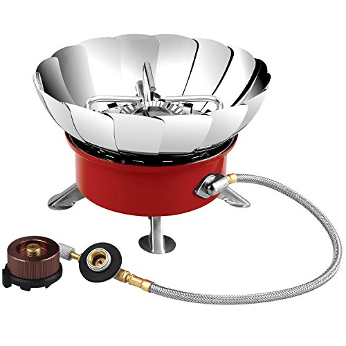 Relefree Camping Stove - Backpacking Gear, Collapsible Portable Outdoor Camping Gear, Propane Gas Burner with Electronic Ignition for Camping, Hiking, Hunting Outdoor Activities (Collapsible Camping Stove compare prices)