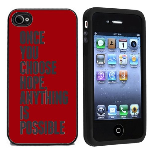 51FL2zVxRUL ~ Apple iPhone 4 or 4s Case Once You Choose Hope Anything Is Possible / Cover Verizon or At&T Get Rabate