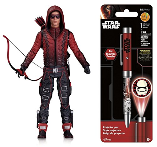Super Hero Arrow (TV Show): Arsenal Action Figure & Free Star Wars Projector Pen, Colors may vary Toys