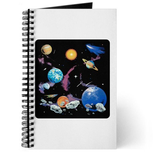 Journal (Diary) With Solar System And Asteroids On Cover