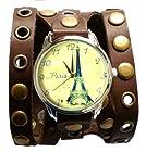 ZIZ Paris Watch Unisex Wrist Watch, Quartz Analog Watch with Leather Band