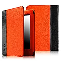 Fintie (Orange) Folio Book Style Carry Case For Amazon Kindle Paperwhite with Auto Sleep/Wake Feature 8 Colors Options
