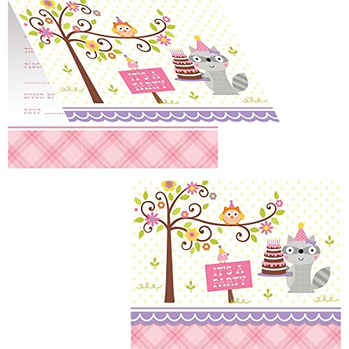 Happi Woodland Girl Invitations (8)