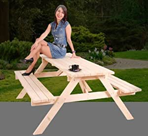 massive picknickbank gartenbank gartentisch. Black Bedroom Furniture Sets. Home Design Ideas