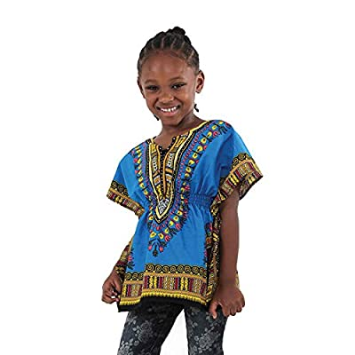 Traditional Elastic Child Dashiki: Trq