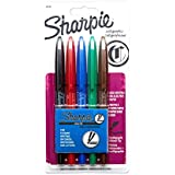 Sharpie Calligraphic Marker Calligraphy, Water-Base Marker Chisel Medium, 5-Carded, Assorted Inks (40150SH)
