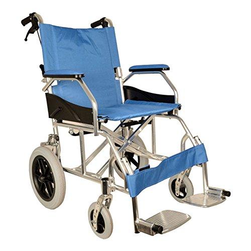 Sedia a rotelle disabili carrozzina in alluminio pieghevole ultra leggera