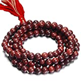 Starstell Spiritually Energized Red Color 108 Beads Wooden Rosary Maala For Mantra Jaap
