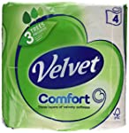Velvet White Tissues 4 Rolls (Pack of...