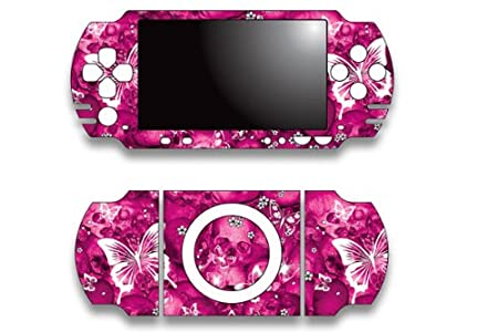 Sony PSP Slim Skin Decal Sticker - Pink Butterfly
