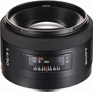Sony 50mm f/1.4 Alpha A-Mount Standard Prime Lens + Microfiber Cleaning Cloth