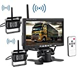 ATian 2 x Wireless IR Night Vision Rear Backup Camera System + 7