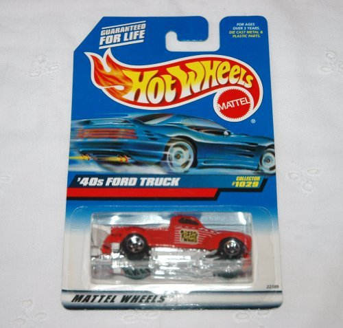 Mattel Hot Wheels 1999 1:64 Scale Red 40's Ford Truck Die Cast Car Collector #1029 - 1