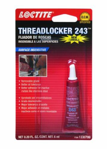 Loctite 1330799 243 Blue Oil Resistant Threadlocker Tube, 6-milliliter