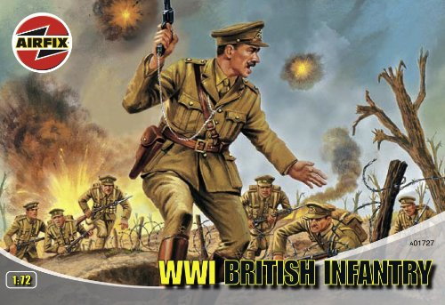 Airfix A01727 1:72 Scale WWI British Infantry Figures Classic Kit Series 1
