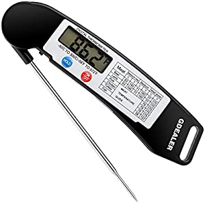 Instant Read Thermometer, GDEALER Super Fast Digital Electronic Food Thermometer Cooking Thermometer Barbecue Meat Thermometer with Collapsible Internal Probe for Grill Cooking Meat Kitchen Candy GDEALER