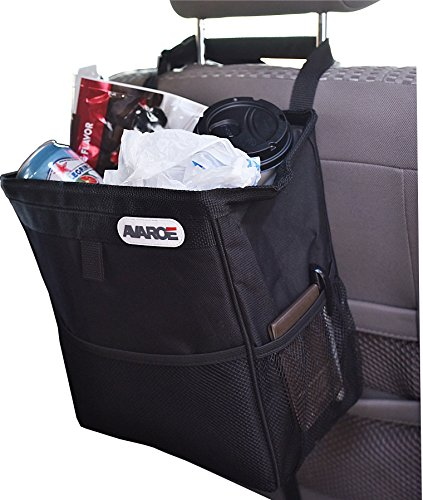 Large Car Trash Can, 12x11x7 Inches, LeakProof Plastic Liner, Long Lasting Materials and Build, Fully Mountable with 2 Stabilizing Straps. Car Garbage Can To Protect Your Car Today! (Trash Can Carrier compare prices)