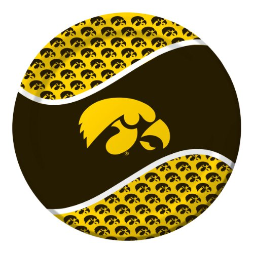 Creative Converting Iowa Hawkeyes Dinner Paper Plates (8 Count)