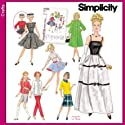 "Simplicity Sewing Pattern 5785 Clothes For 11-1/2"" Fashion Doll Such As Barbie Simplicity Archives Retro Styles"