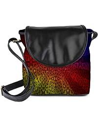 Snoogg Abstract Sun Rays Womens Sling Bag Small Size Tote Bag
