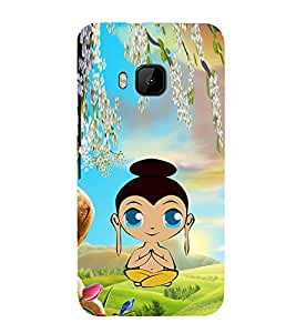 iFasho Lord Budha animated Back Case Cover for HTC One M9