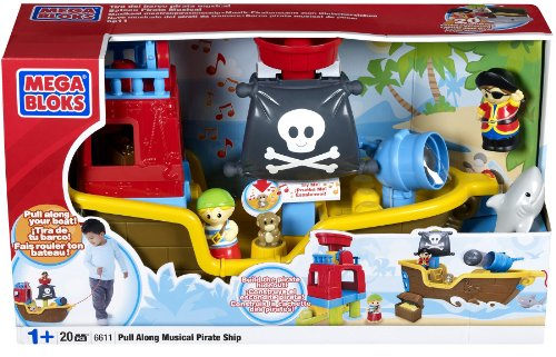 51FLTBWsQ0L Mega Bloks Pull Along Musical Pirate Ship