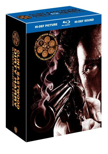 Cover art for  Dirty Harry: Ultimate Collector&#039;s Edition (Dirty Harry / Magnum Force / The Enforcer / Sudden Impact / The Dead Pool) [Blu-ray]