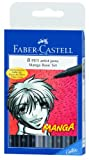 Faber-Castell Manga Pitt Artist Pens 8/Pkg 5 Shades Of Gray 3 Assorted Tip Black 167107