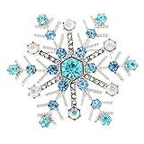 【ノーブランド 品】女性ジュエリー シャイニー ブリンブリン クリスタル ラインストーン クリスマス 雪の結晶 ブローチピン