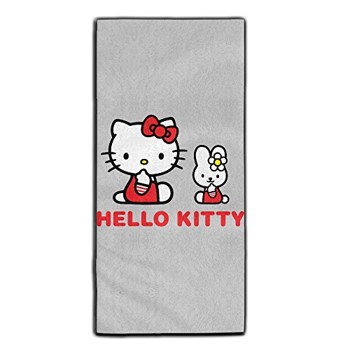 Home-Bath-Towel-1-Pack-Thin-Light-Weight-Quick-Dry-Hello-Kitty-Towel-For-Bath-Beach-Swimming-Pool-Yoga-And-Gym-For-Men-And-Women-118-X-275-Inches