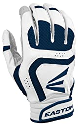 Easton A121639 VRS Icon Adult Batting Gloves (White/Navy)