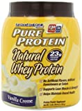 Pure Protein 100 %  Natural Whey Protein, Vanilla Creme, 1.6 Pounds