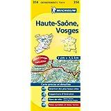 Carte Département Haute-Saône, Vosges, n° 314