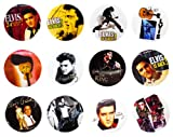Elvis Presley (1) Awesome Quality Lot 12 New Pins Pinback Buttons Badge 1.25