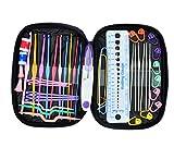 OldShark® 49 Pieces Crochet Hooks Yarn Knitting Needles Sewing Tools Full Set Knit Gauge Scissors Stitch Holders