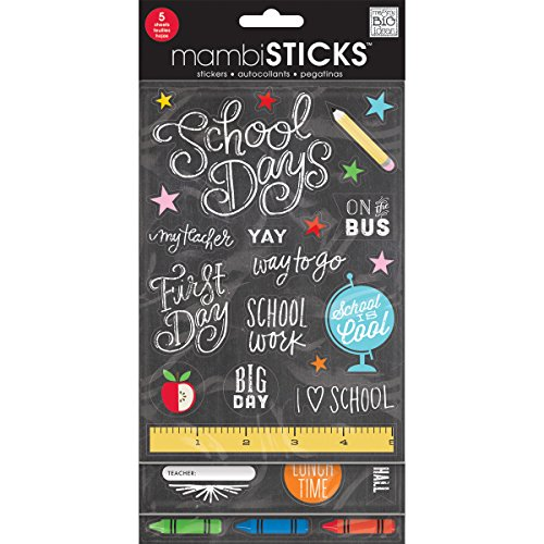Me & My Big Ideas Stickers Value Pack -Chalk - School Today (Value Pack Stickers compare prices)