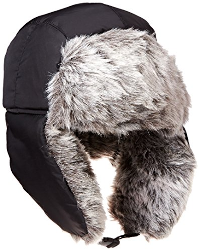 W200E Black Womens and Mens Winter warm aviator trooper hats By 7Headz