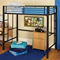 Your Zone Metal Loft Twin Bed