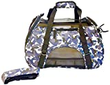 mmyTM Premium Soft-Sided Pet Carrier, Large Camo Blu For Pets up to 22 Lbs / 9.98 Kg, Air Travel Compatible