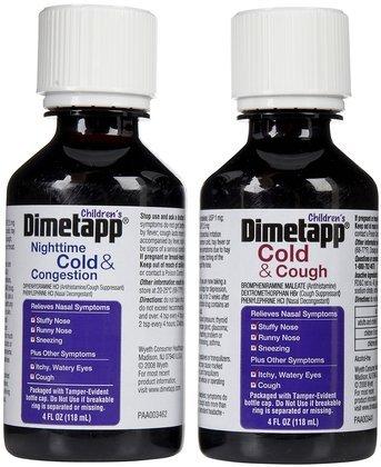 Dimetapp Childrens Cold & Congestion Daytime/Nighttime Liquid-Grape-8 oz