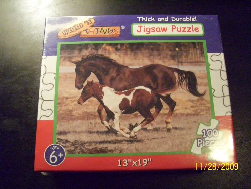 Wood 'N Things 100-Piece Horse Jigsaw Puzzle