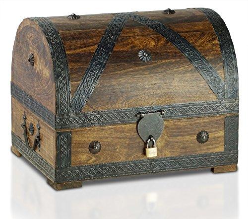 Piraten-Schatztruhe-von-Thunderdog-Holztruhe-braun-Handarbeit-Vintage-mit-und-ohne-Schloss-verschiedene-Gren-das-ideale-Geschenk-extra-gro-XL-mit-Schloss