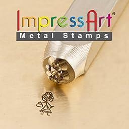 ImpressArt- 7mm, Grandma Stick Figure Design Stamp