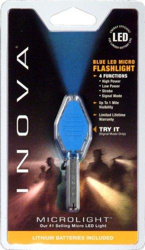 Inova Cb-B Translucent Microlight, Cobalt Blue Led And Grip