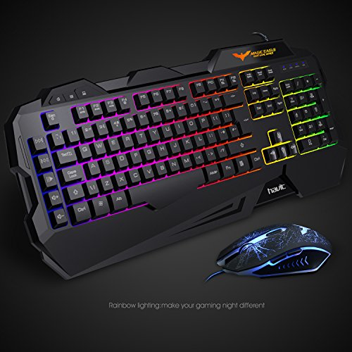 41af7a103e5 Gaming Keyboard {UK Layout}, HAVIT Rainbow LED Backlit Wired Keyboard and  Mouse Combo Set (270f2252e2471afc0d3780fd24bb8603) - PCPartPicker