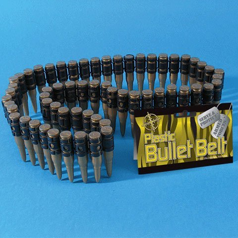 Plastic Bullet Belt w/60 Bullets (1 per package)