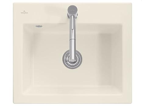Villeroy & Boch Subway 60S Beige Ivory Ceramic Sink Inset Sink Kitchen