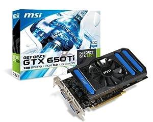 MSI NVIDIA GeForce GTX 650 Ti 1GB GDDR5 PCI Express 3.0 Graphics Card N650Ti-1GD5/OC
